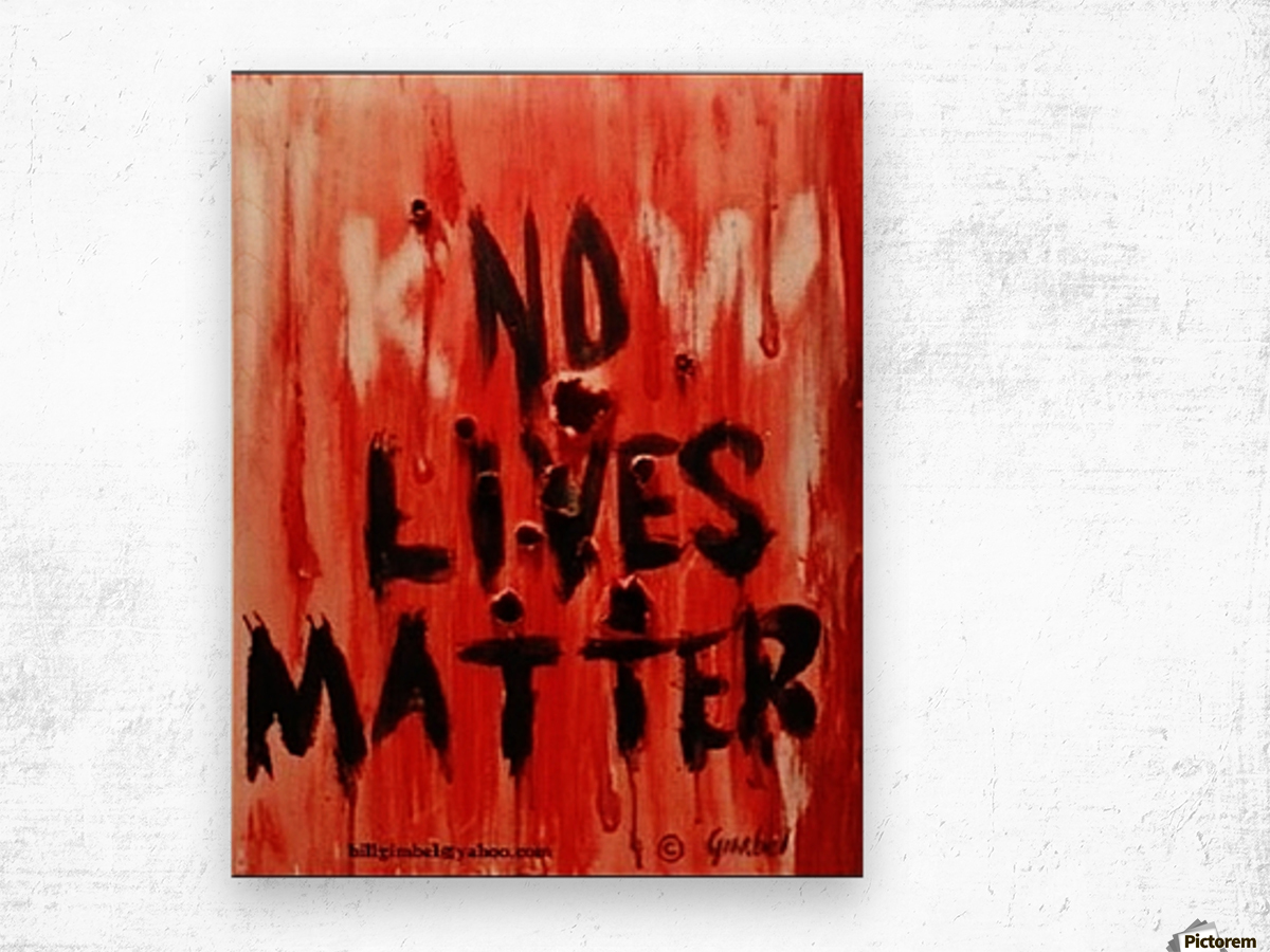 KnoW  lives matter Wood print