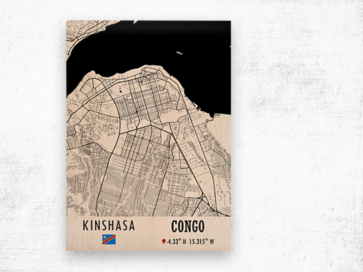 Kinshasa CONGO Wood print