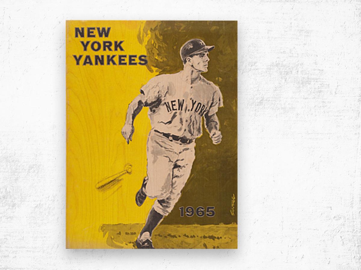 1965 new york yankees poster Wood print