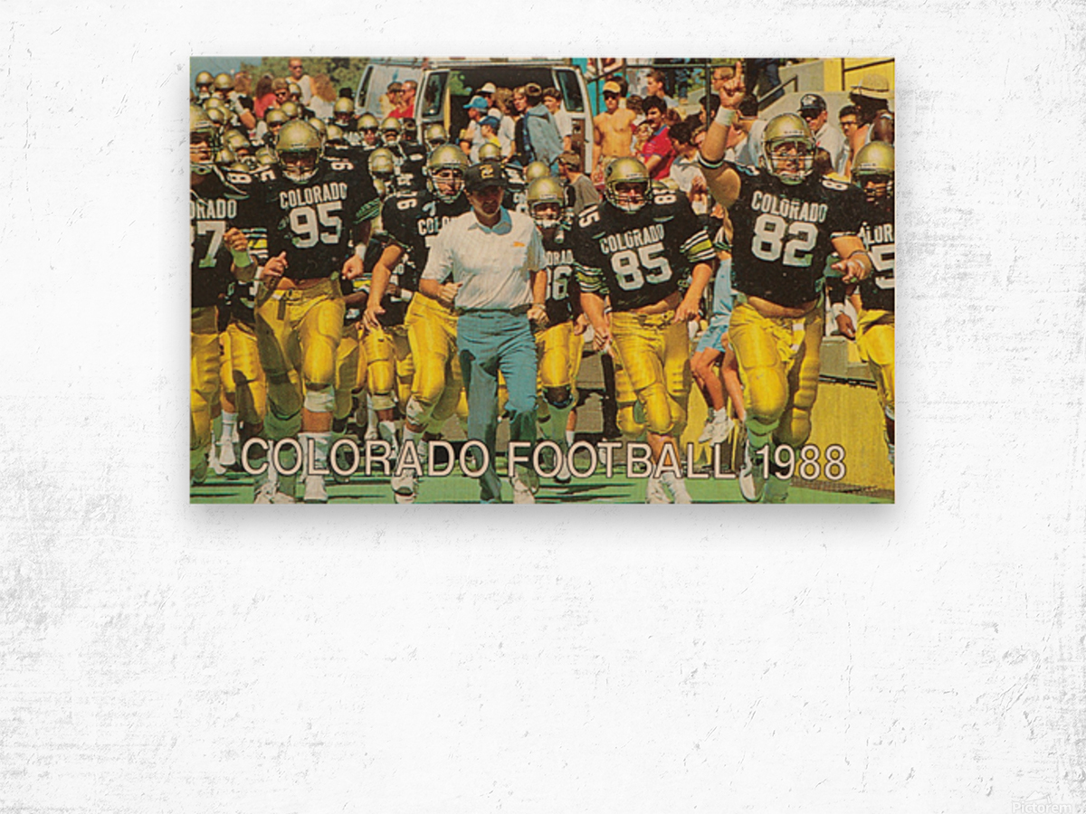 1988 colorado football Wood print