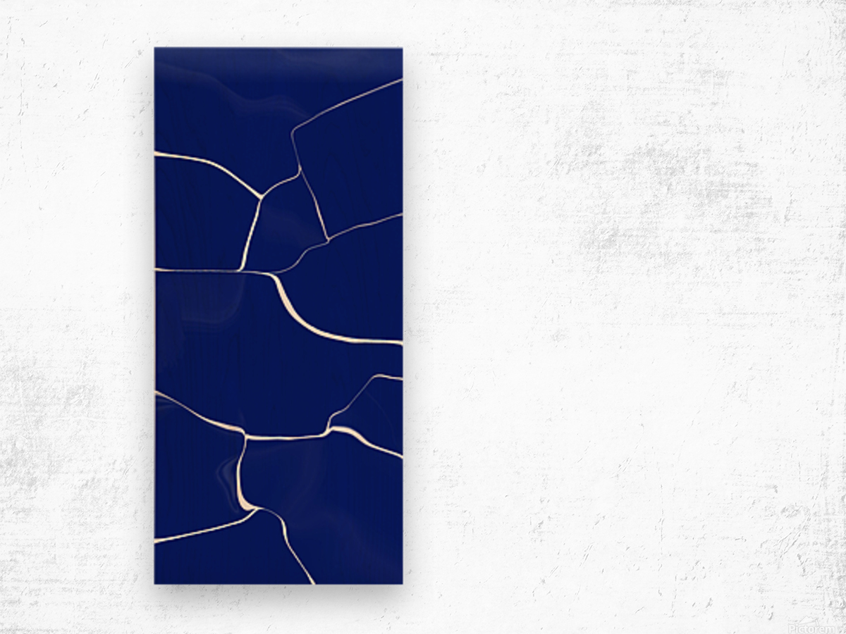 Glossy Marble Wood print