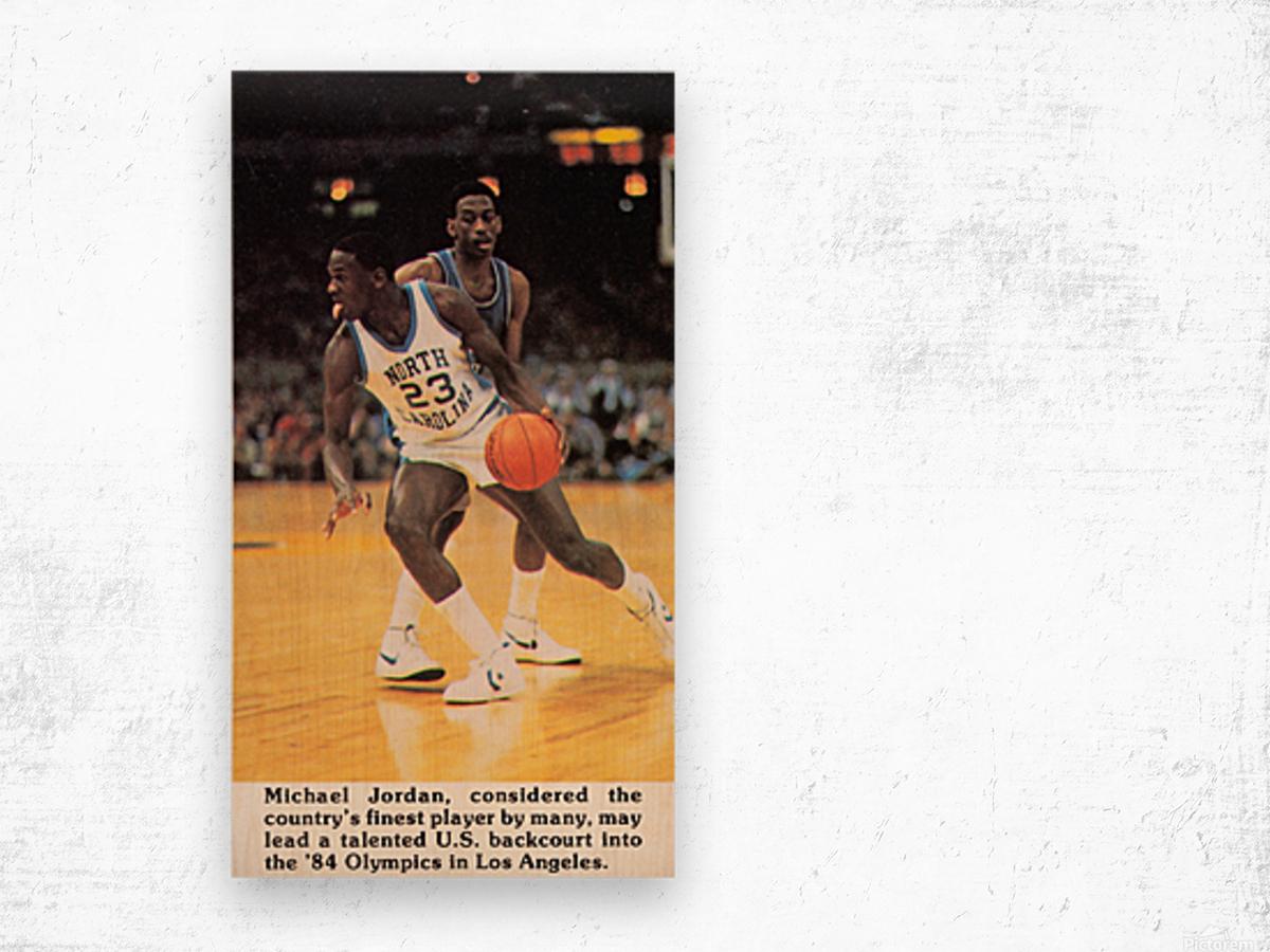 1984 michael jordan north carolina poster Wood print