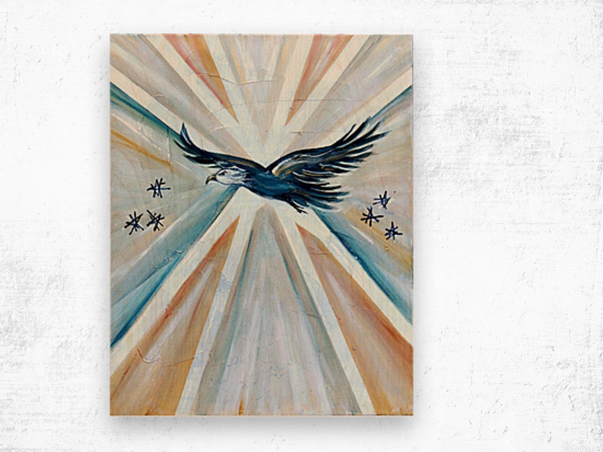 Art deco Freedom Wood print