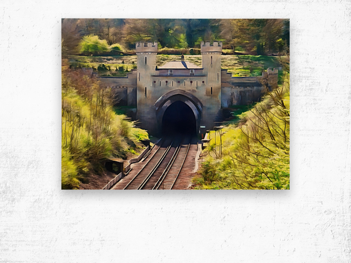Clayton Tunnel in Sussex England Wood print