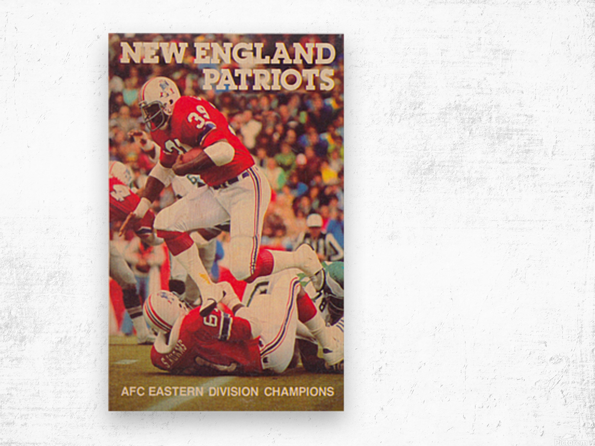 1979 new england patriots vintage nfl poster Wood print