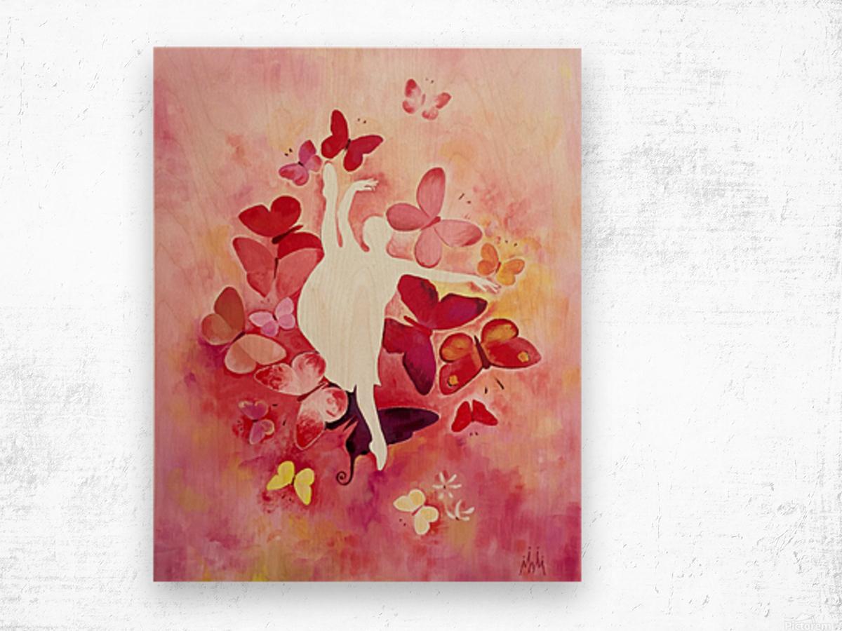 Balerina Anastasia Wood print
