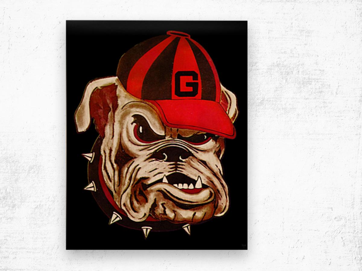 1966 Georgia Bulldog Wood print