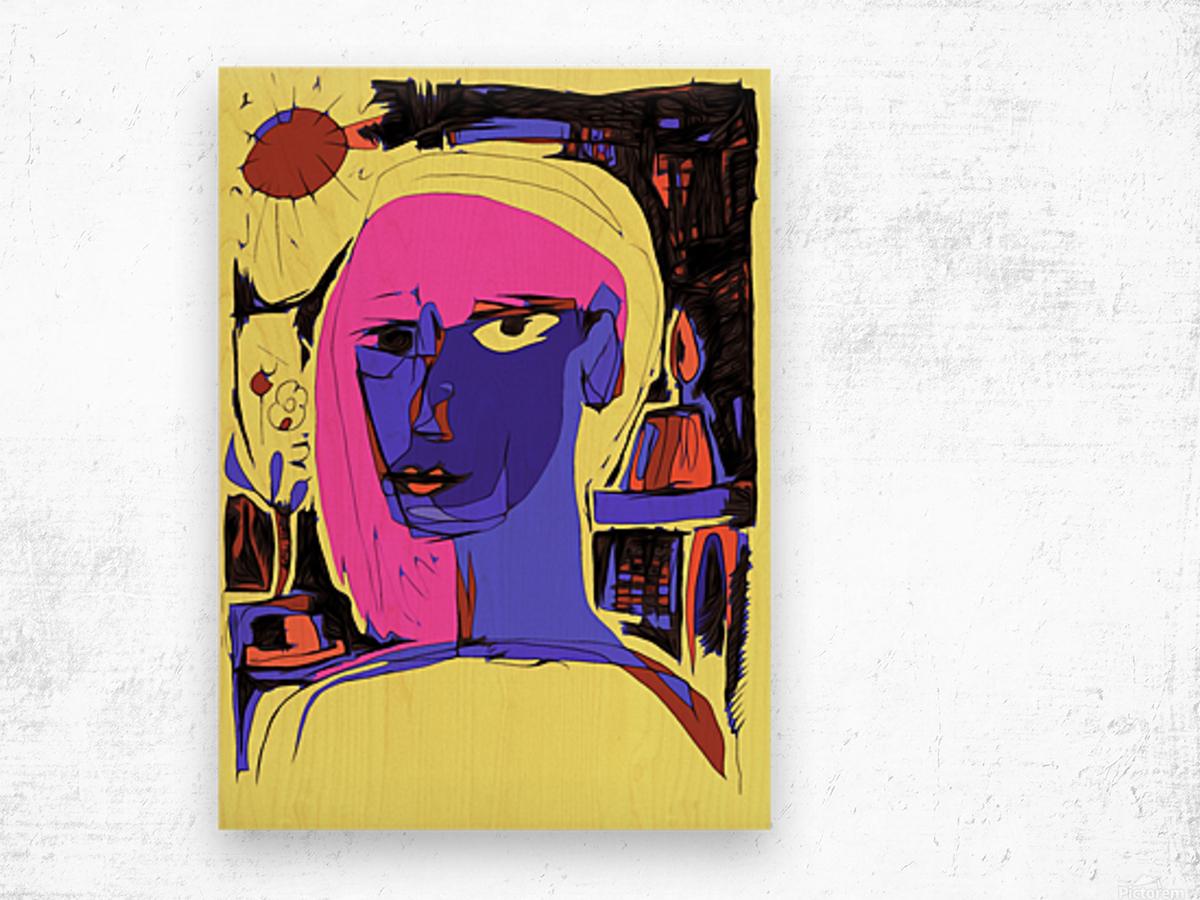 Women of Reboot Series   ⠀⠀⠀⠀⠀⠀⠀⠀⠀⠀⠀⠀ Hel Mort Wood print
