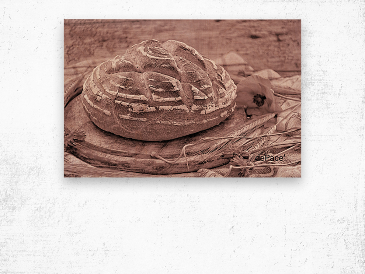 Rye Wheat Bread Home Made Wood print