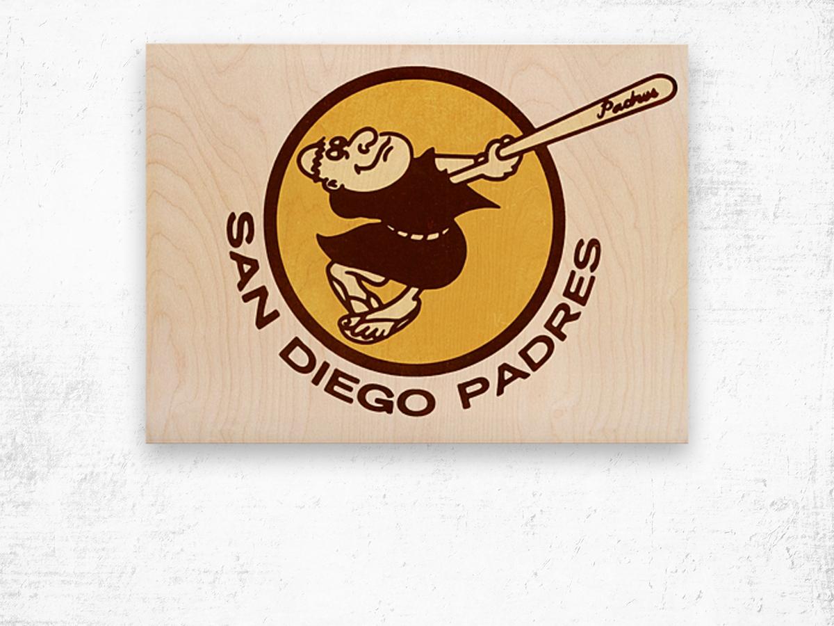 1980 san diego padres logo wall art Wood print