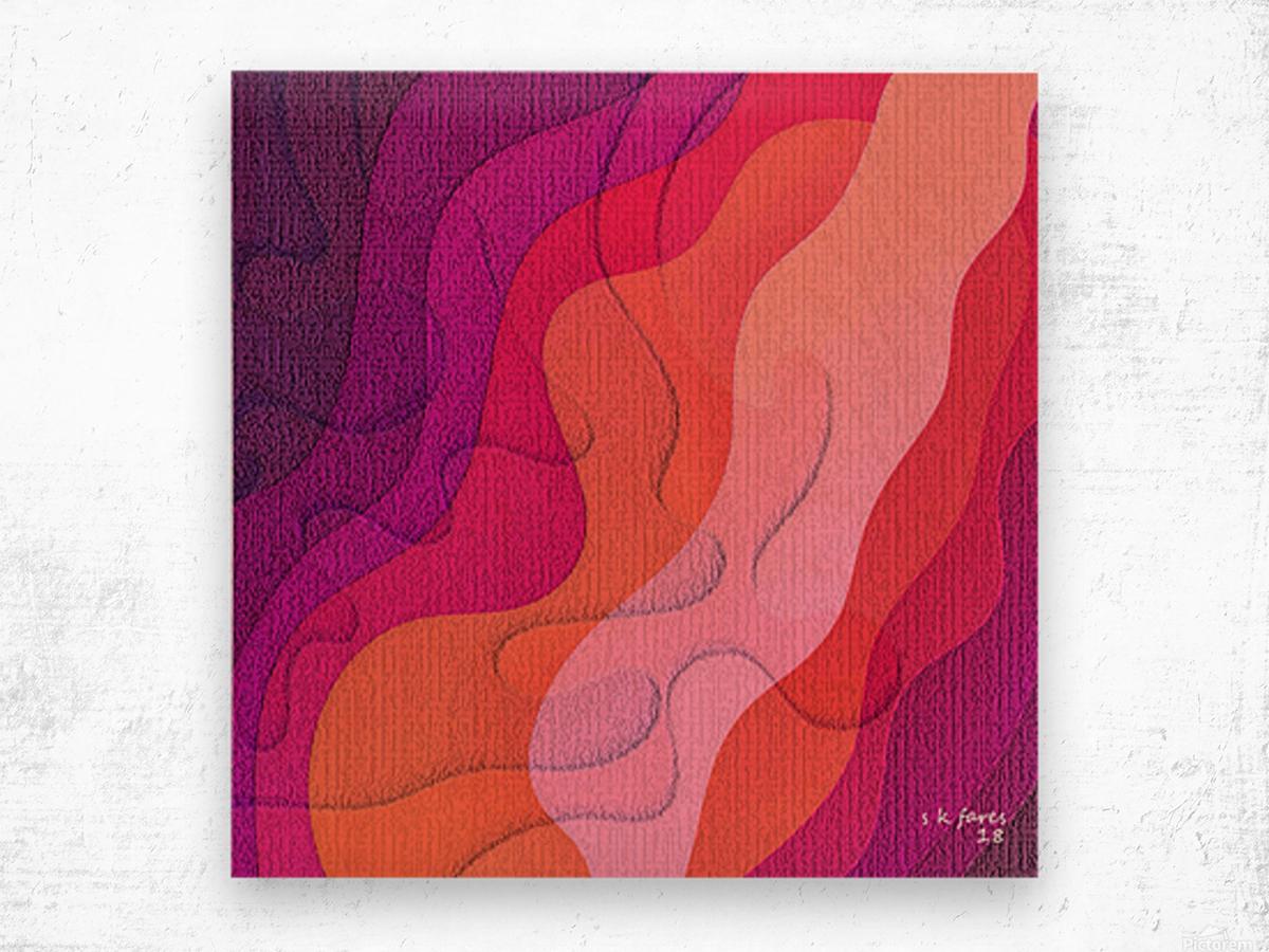 ABSTRACT ART 40 Wood print