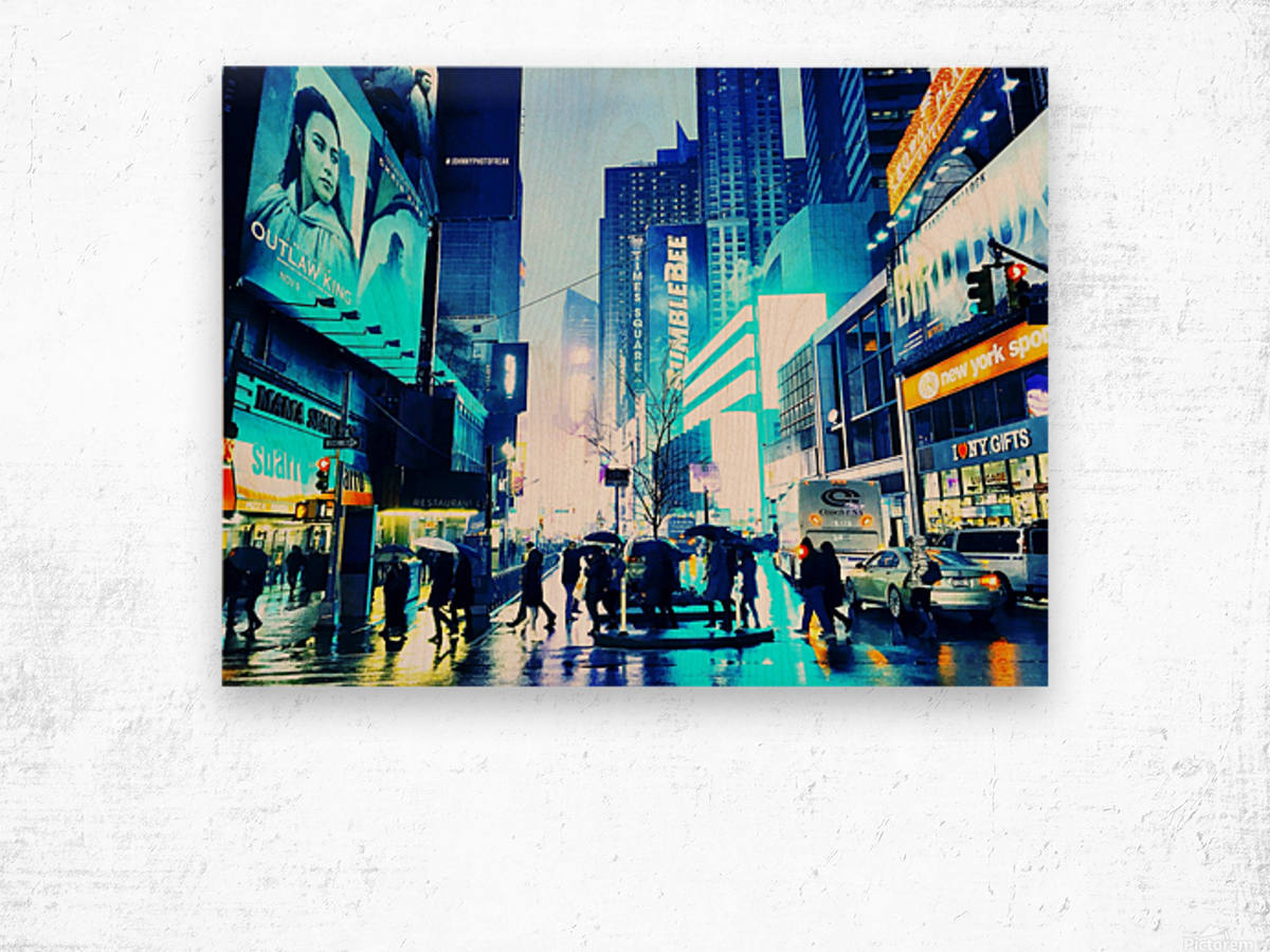 Time square New-York  Wood print