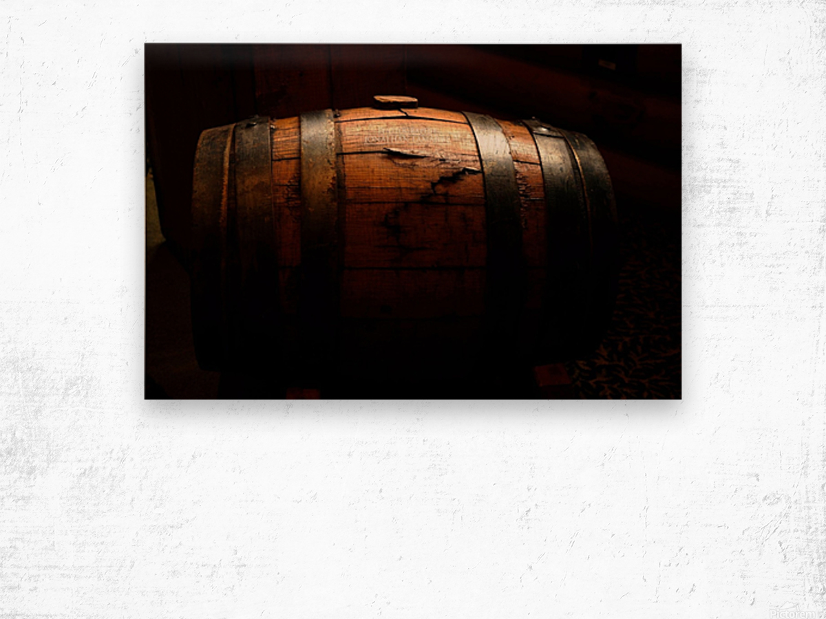 Old barrel Wood print