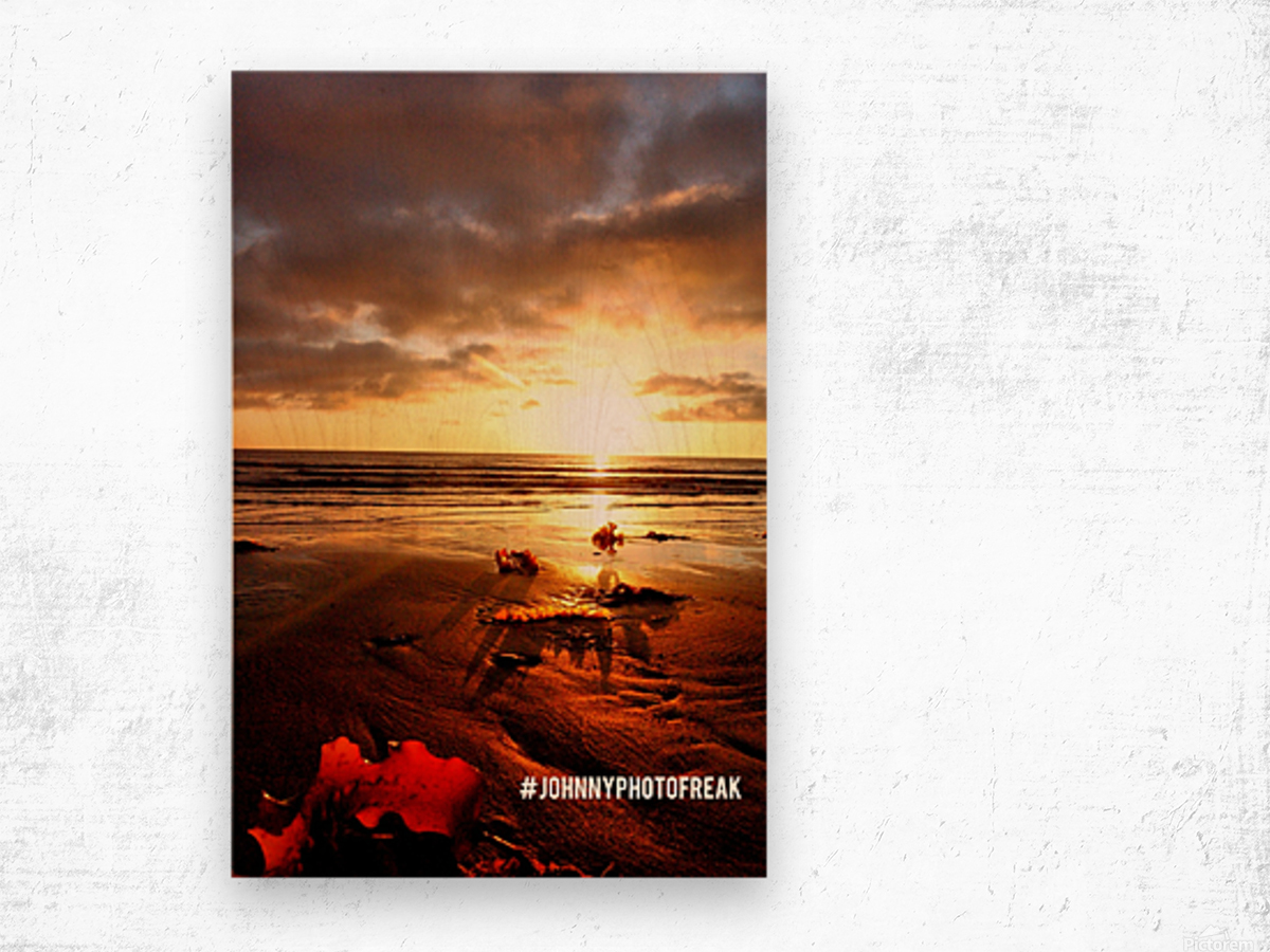 Sunrise fog your decor Wood print