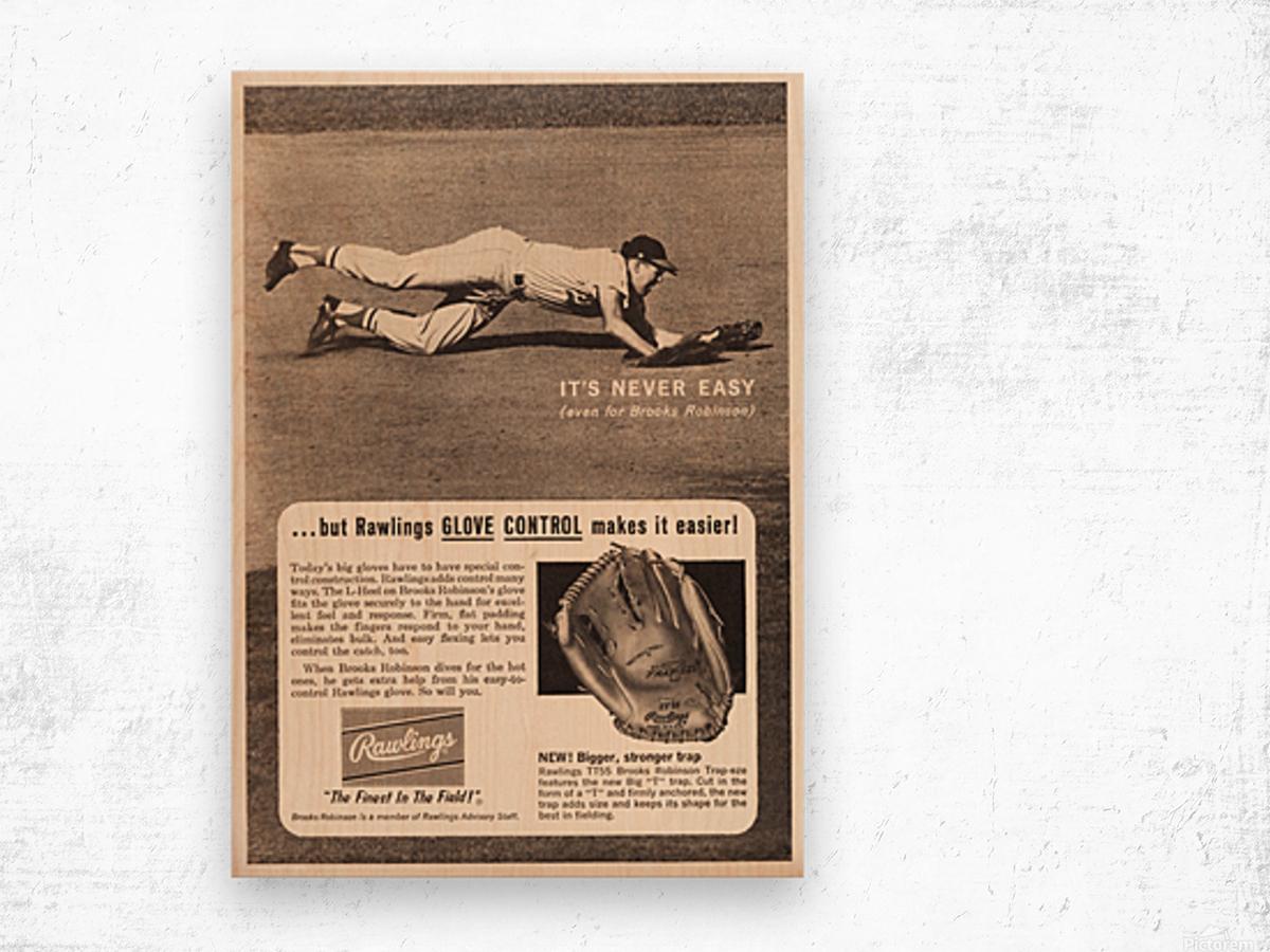 1963 brooks robinson rawlings baseball glove ad Impression sur bois