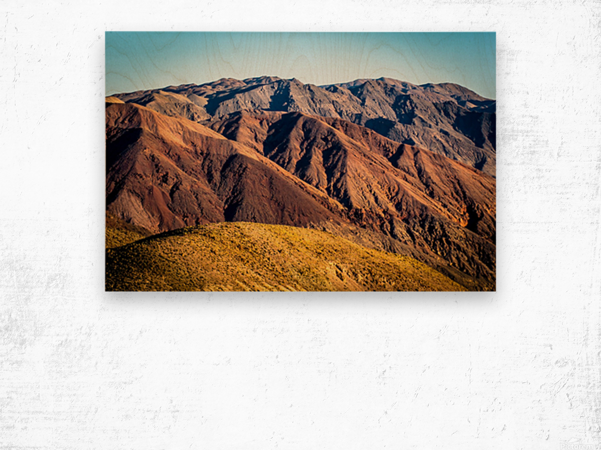 Death Valley mountain Wood print