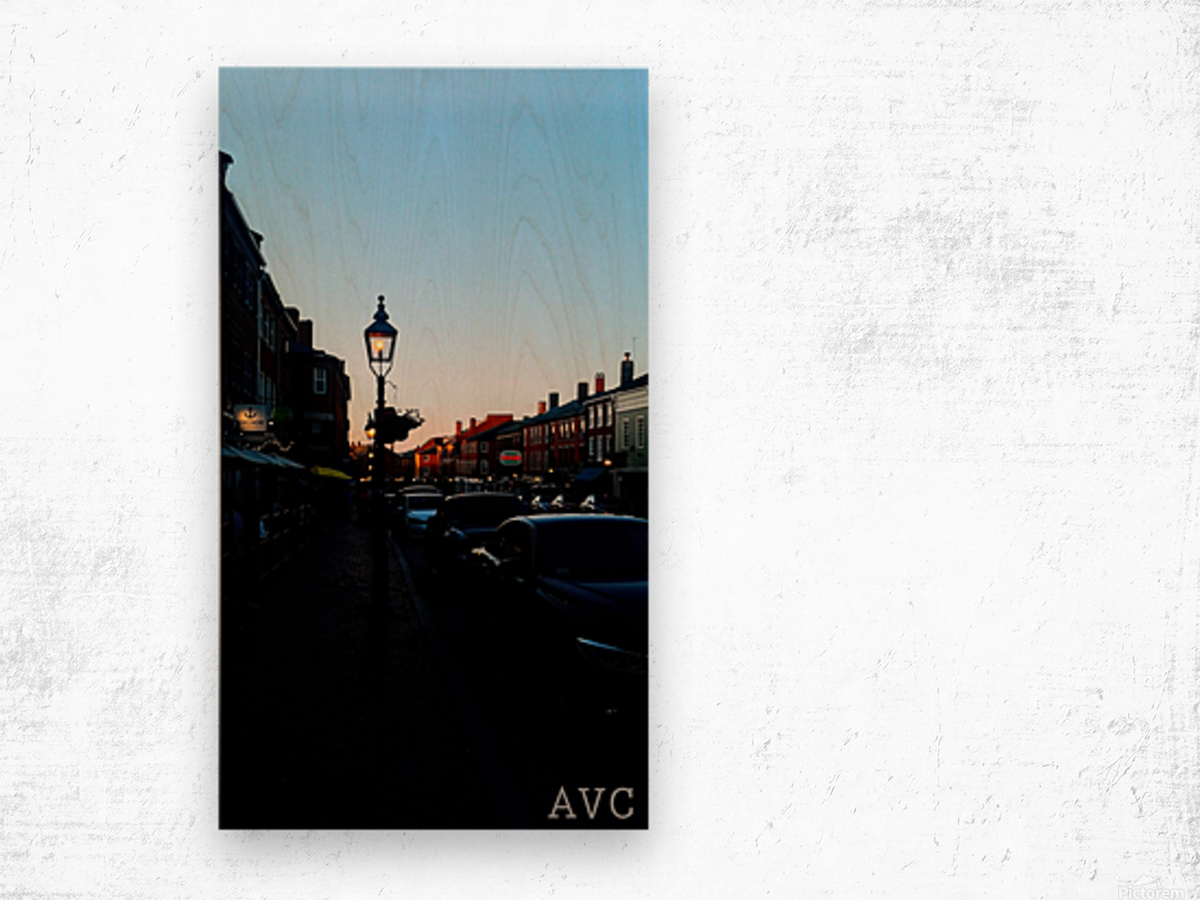 Main Street Newburyport Wood print