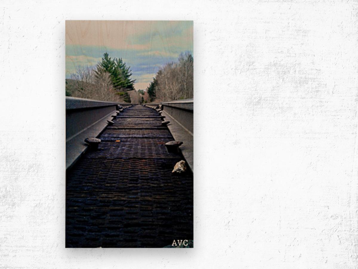 Tracks Impression sur bois