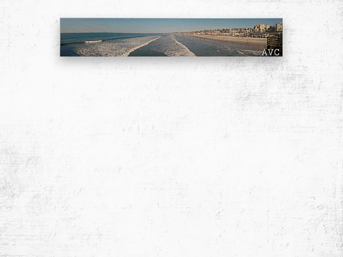 Oceanside CA Panorama Wood print