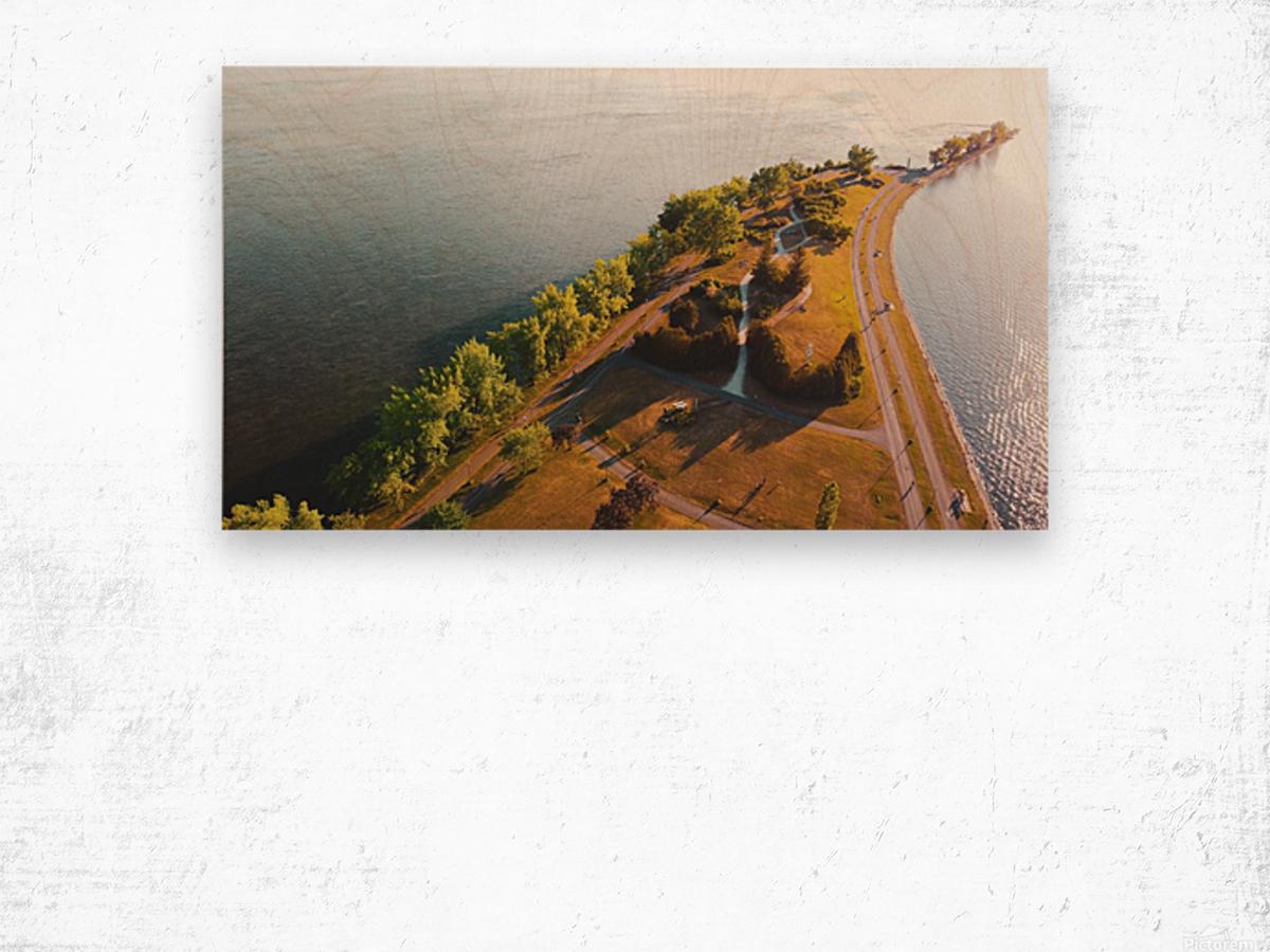 West River Shore Wood print