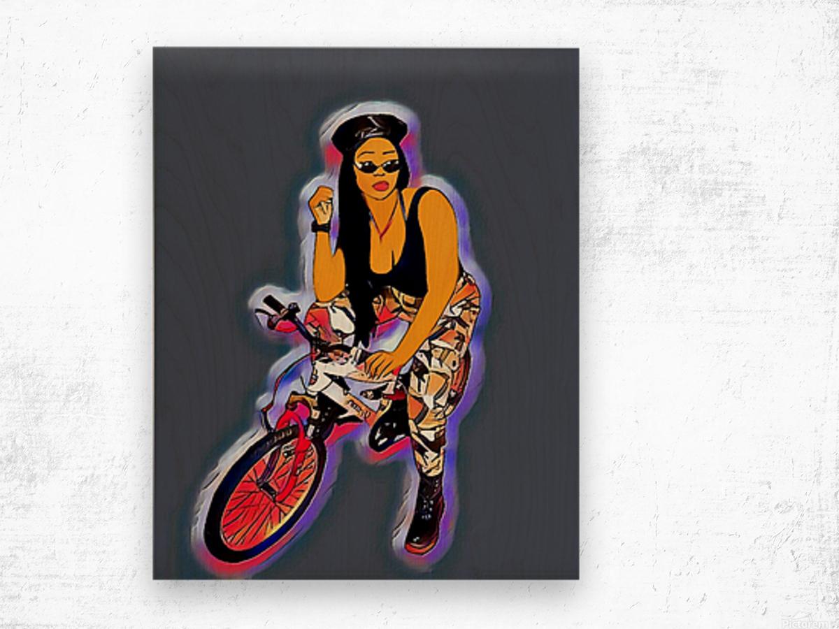 Go Go Go Shorty Wood print