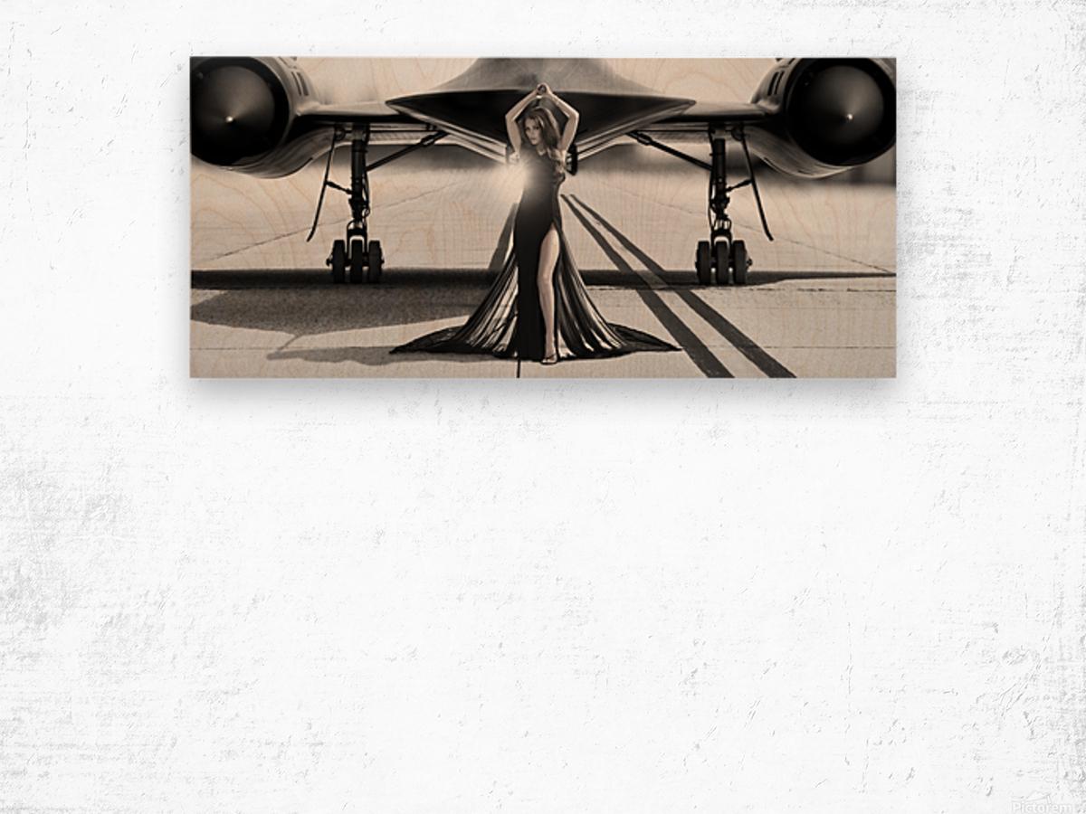 Area 71 Dark Diva Wood print
