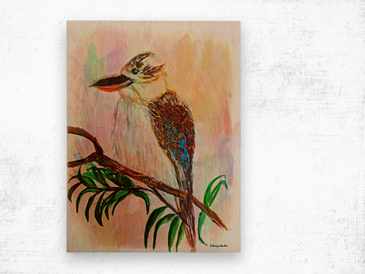 Kookaburra Bird  Wood print