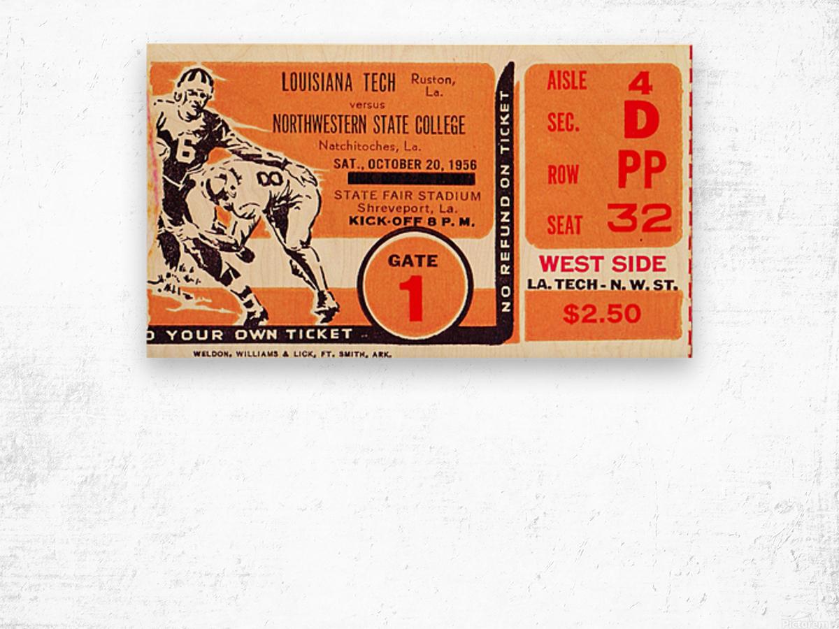 1956 Louisiana Tech vs. Northwestern State Wood print