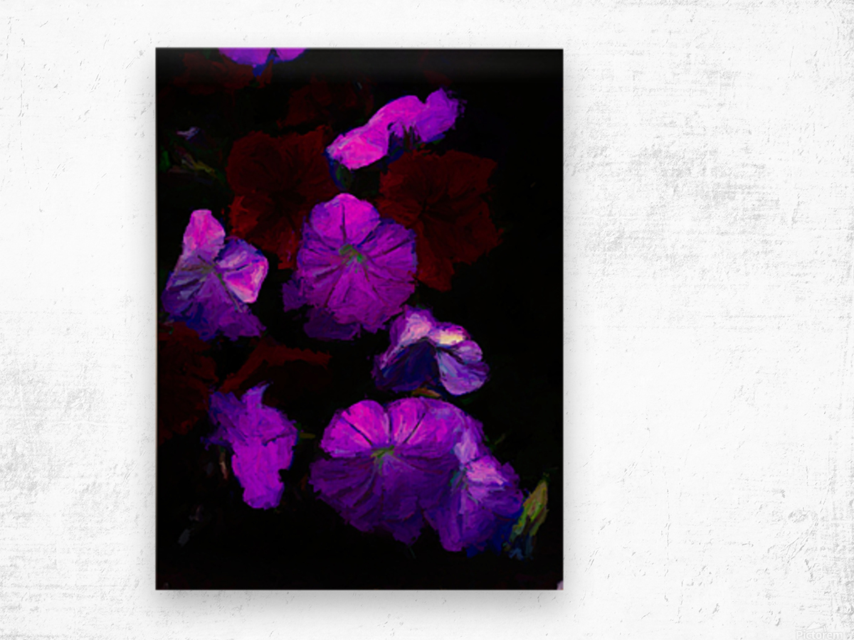 Evening Flowers Wood print