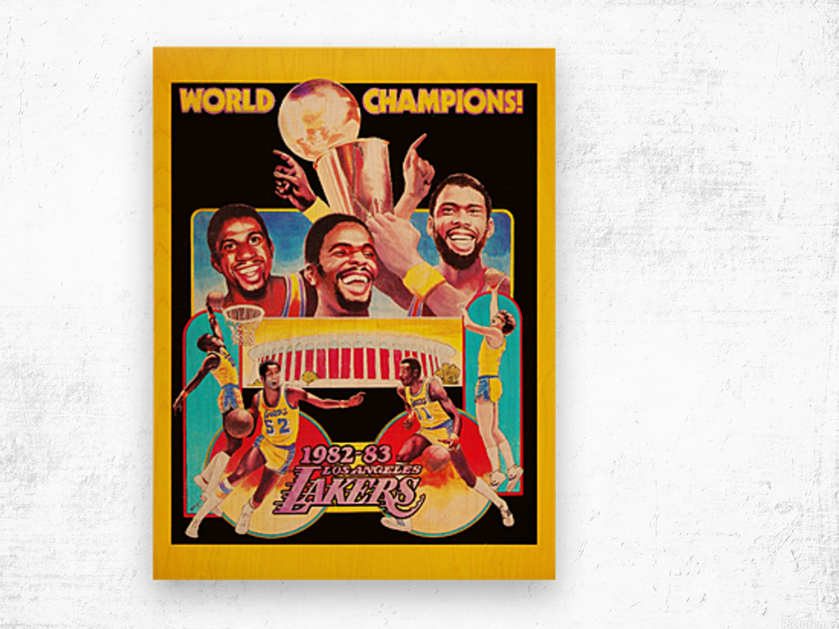1982 LA Lakers Champion Poster Wood print