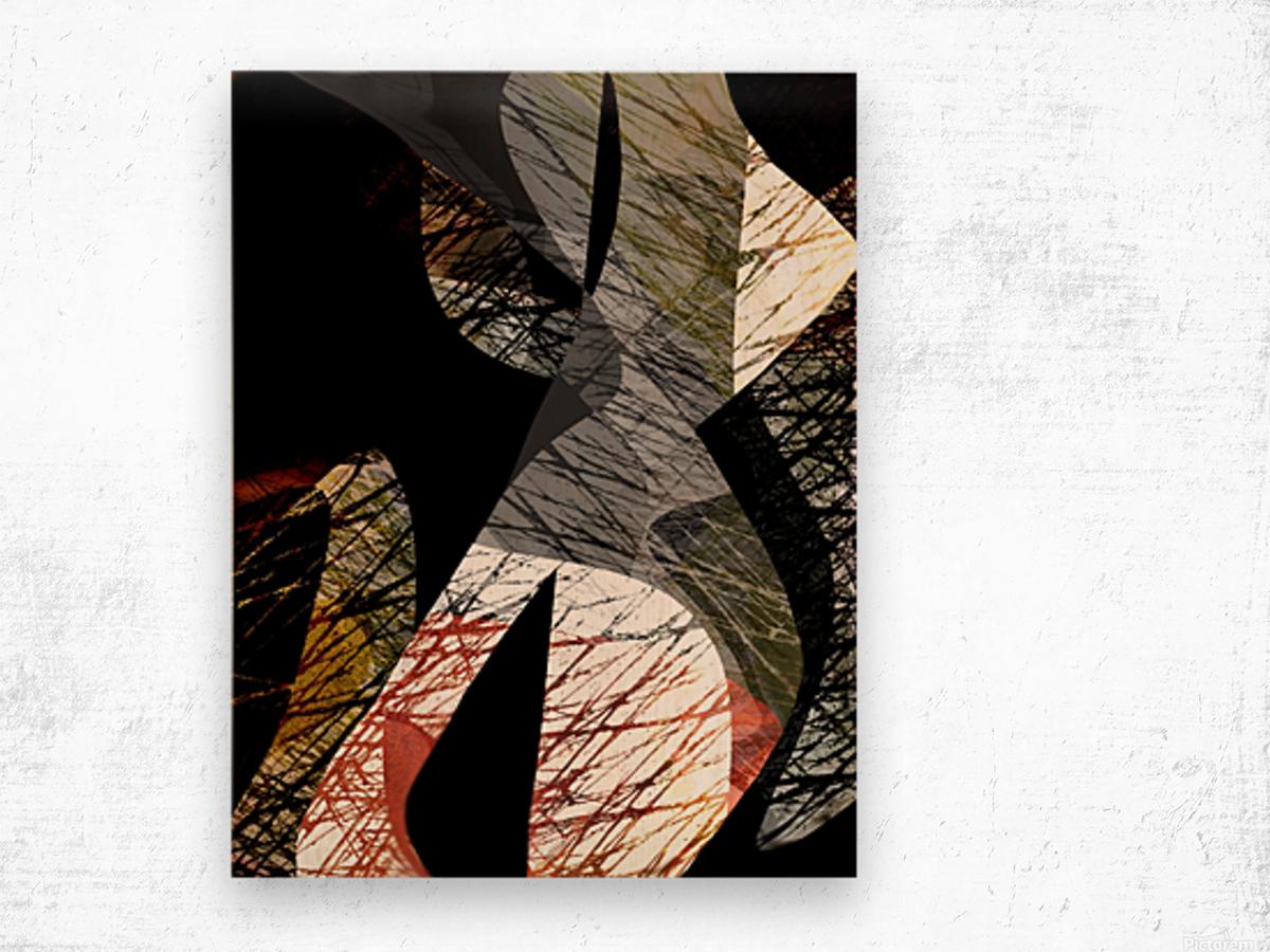 J A Z Z Wood print