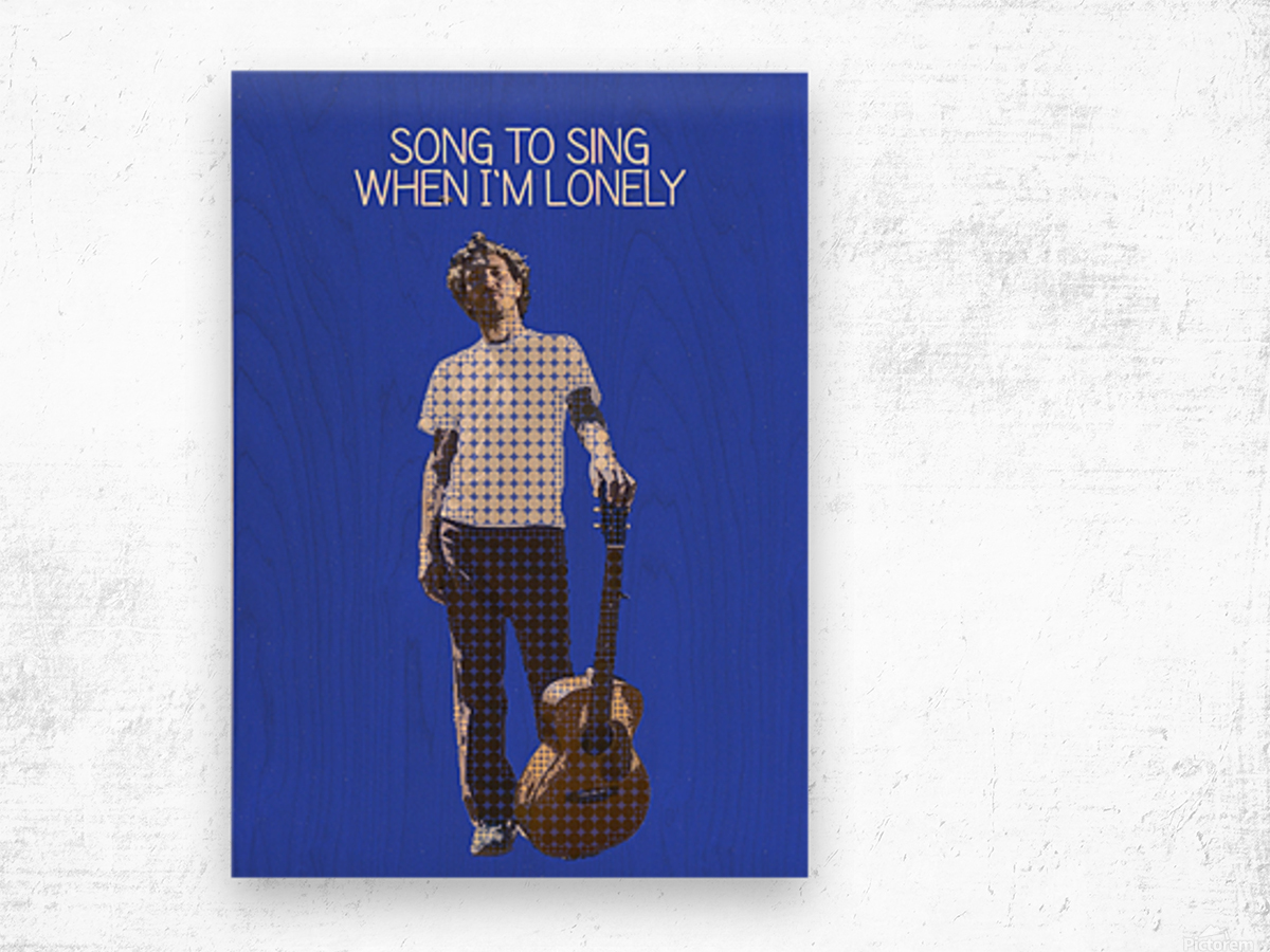 Song To Sing When Im Lonely   John Frusciante Wood print