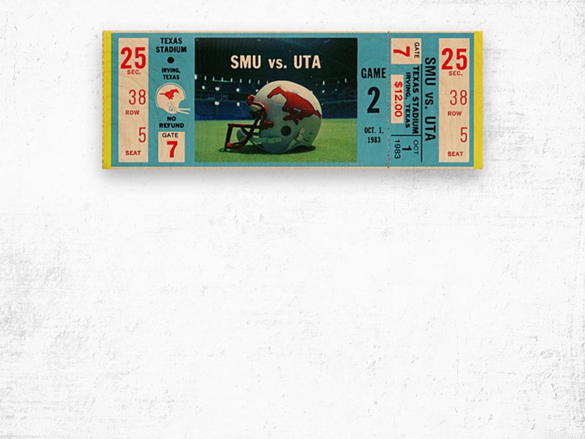 1983_College_Football_SMU vs. UTA_Texas Stadium_Dallas Wood print