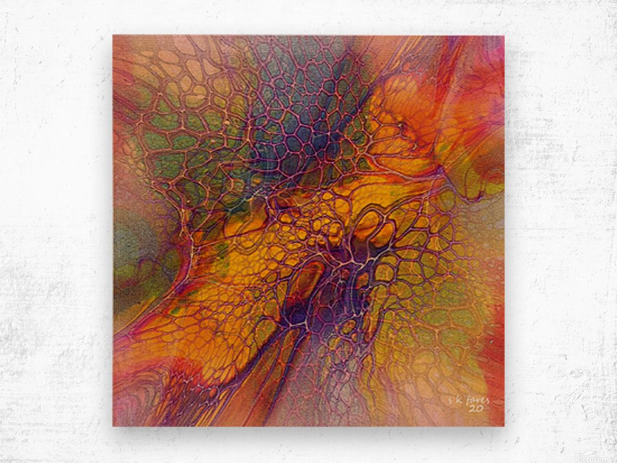 artabstract mix10 Wood print