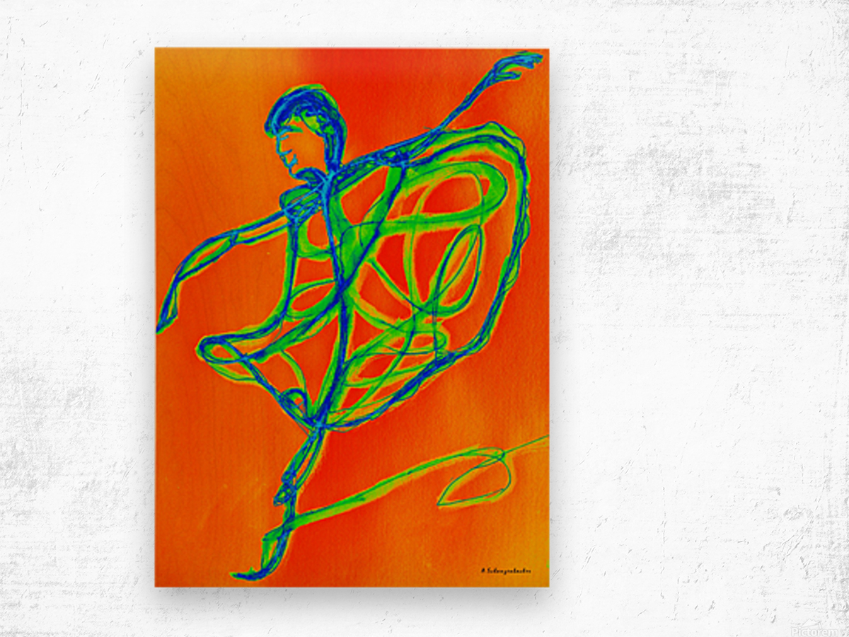 Burning desire to dance Wood print