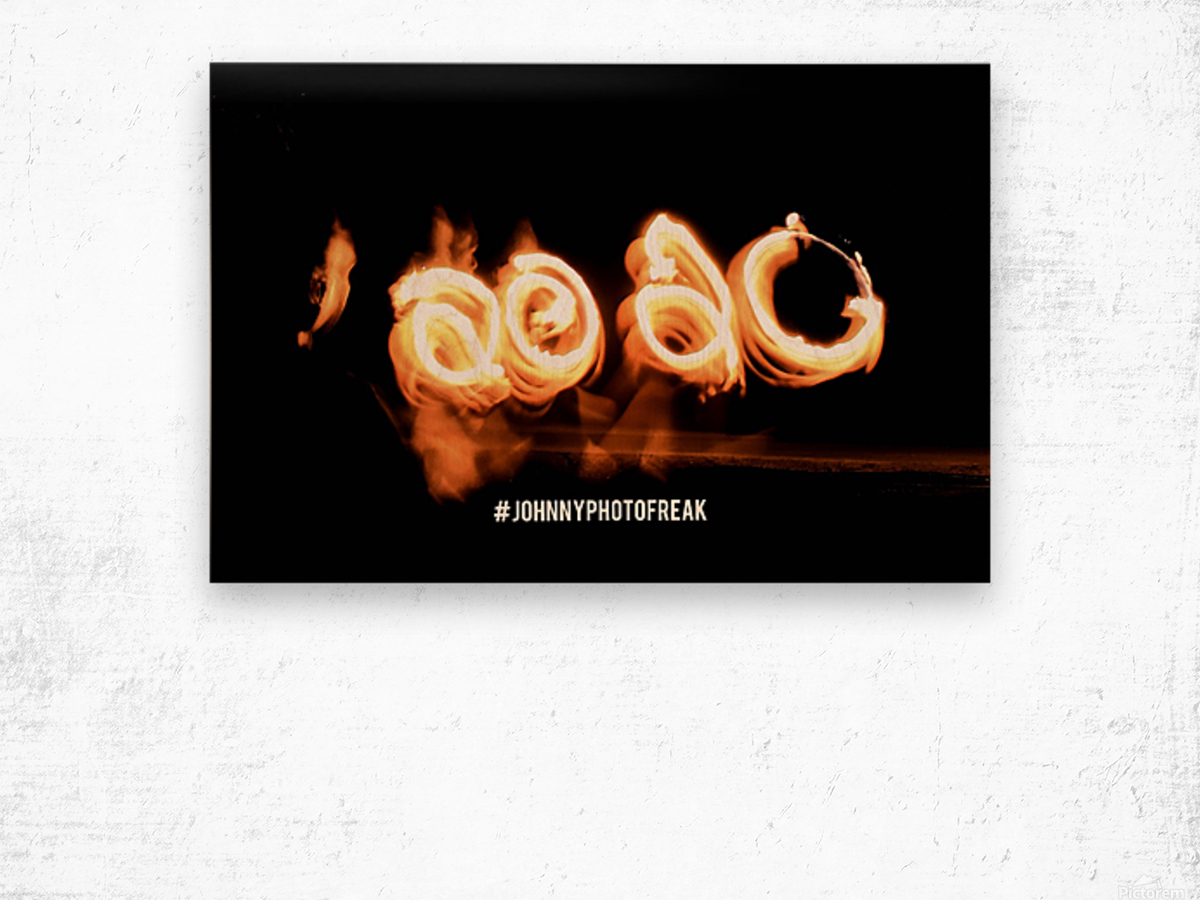 2020 IN FIRE fire painting  Wood print