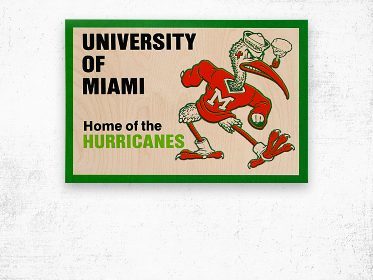 university of miami home of the hurricanes Wood print