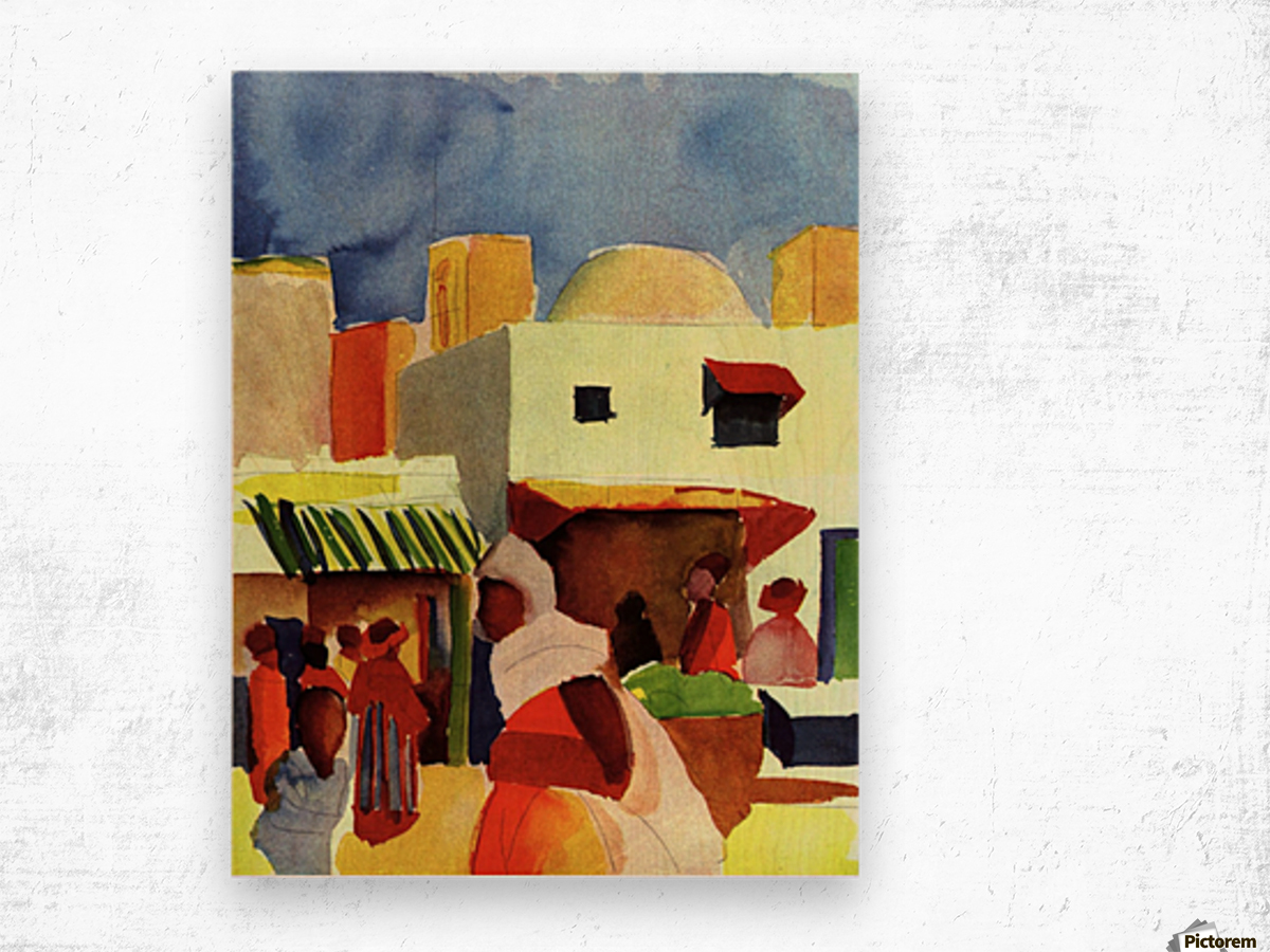 Market in Algier by Macke Wood print