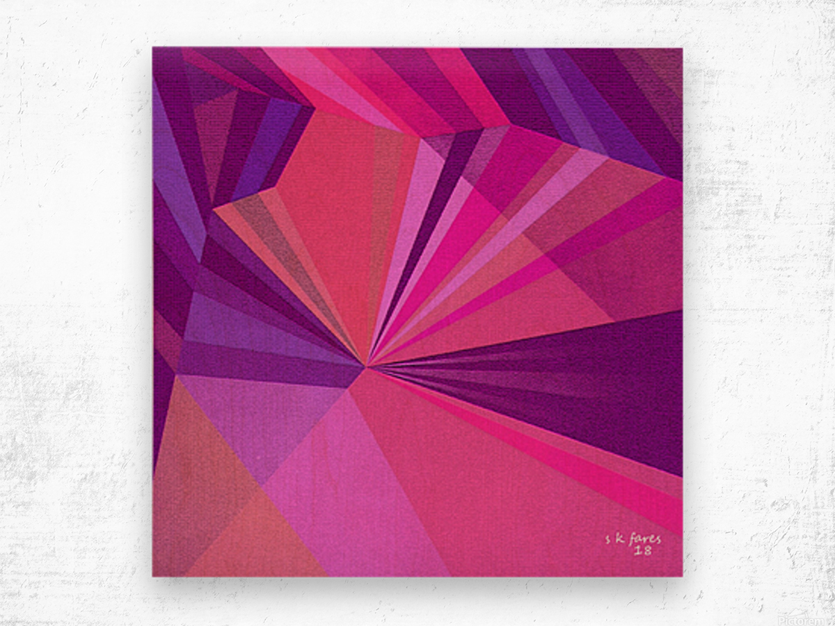 ABSRACT A MIX65 Wood print
