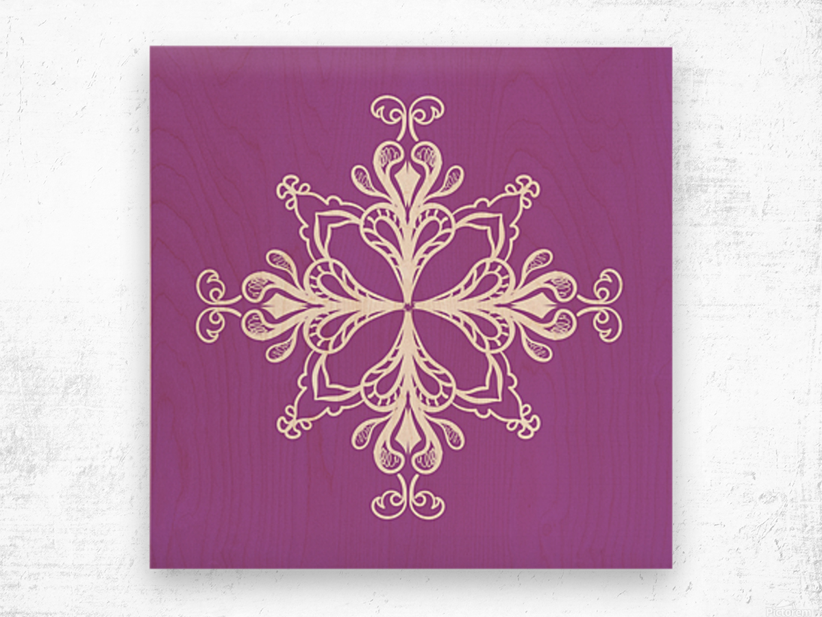 symmetrical doodle Wood print