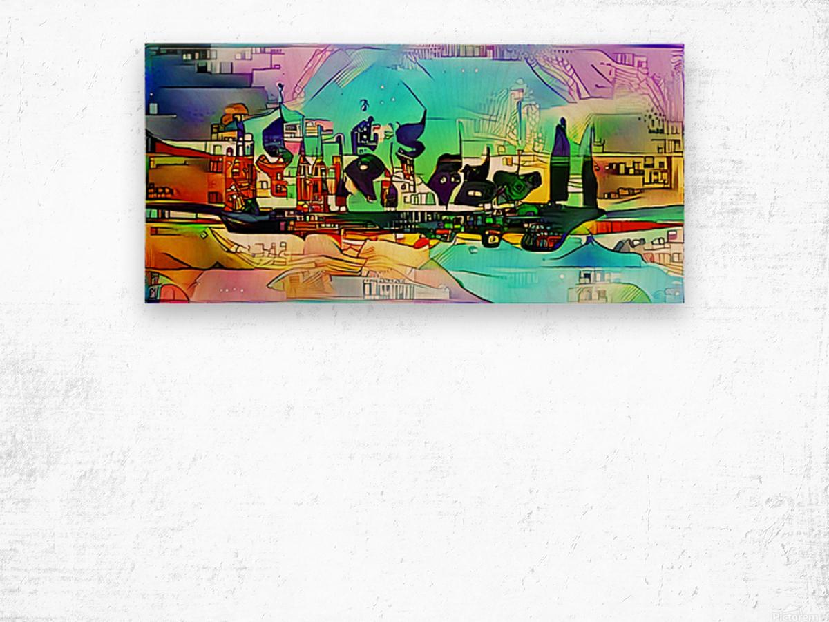 city5 ship Wood print