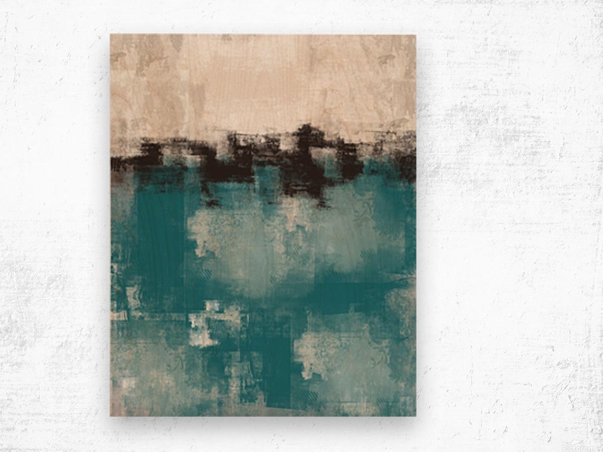 Blue Gray Black Abstract DAP 20013 Wood print