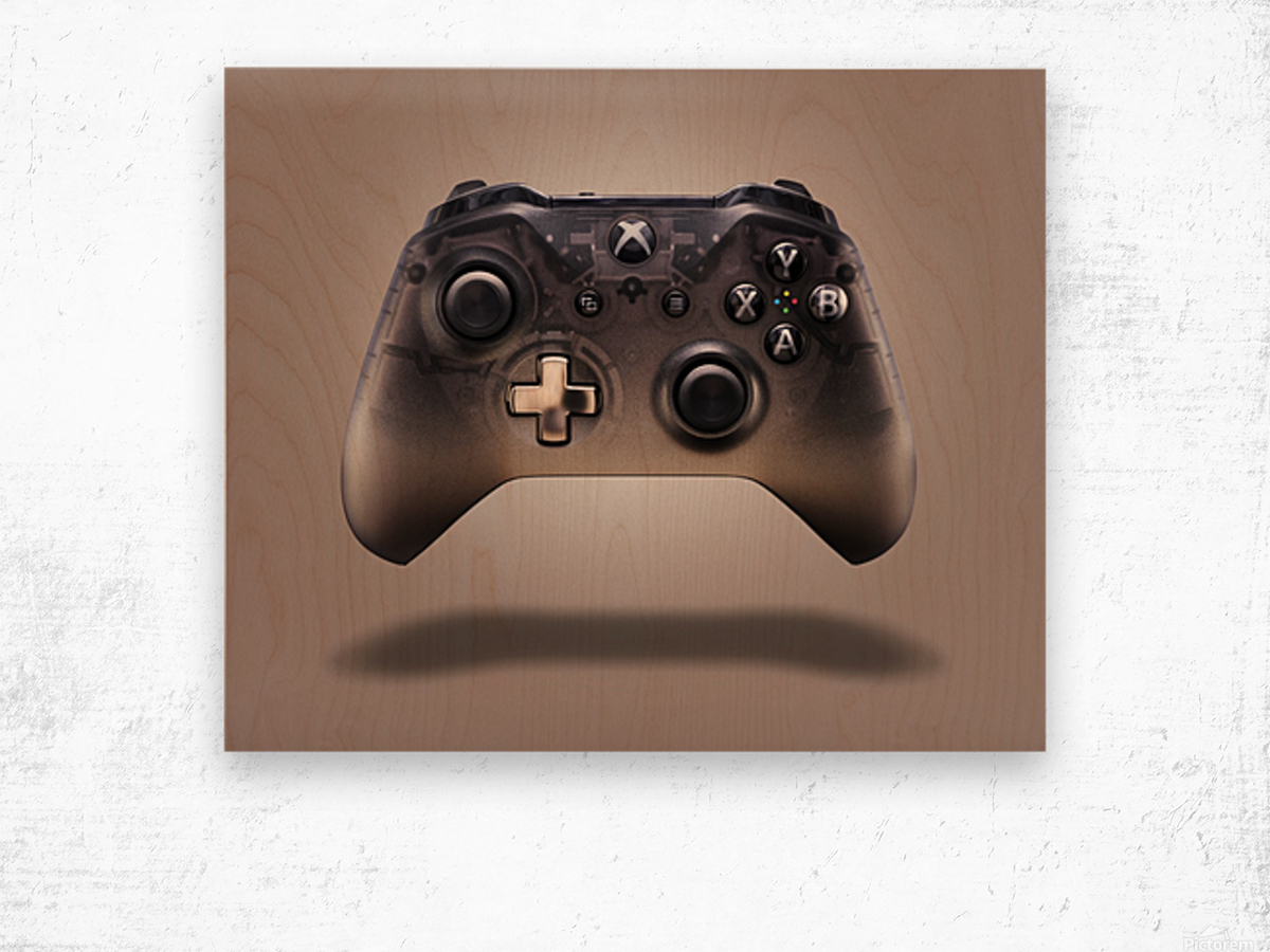 Gaming Controller v2 [extra large] Wood print