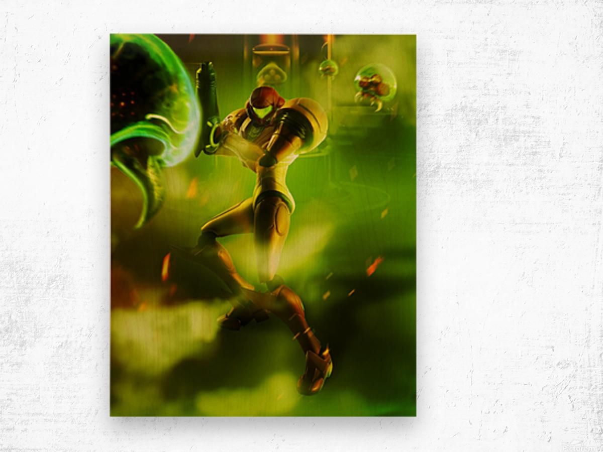 Samus Aran Super Metroid Wood print