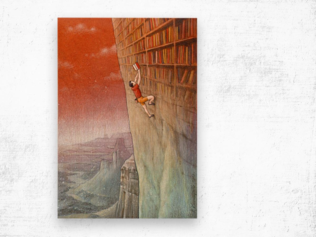 climbing Wood print