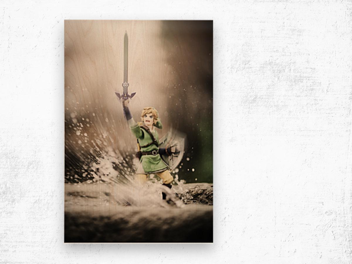 Legend of Zelda - Link in Splash Wood print