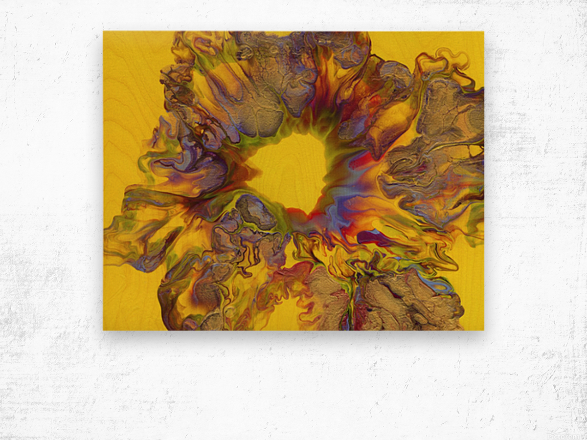 Fire Bloom  Wood print