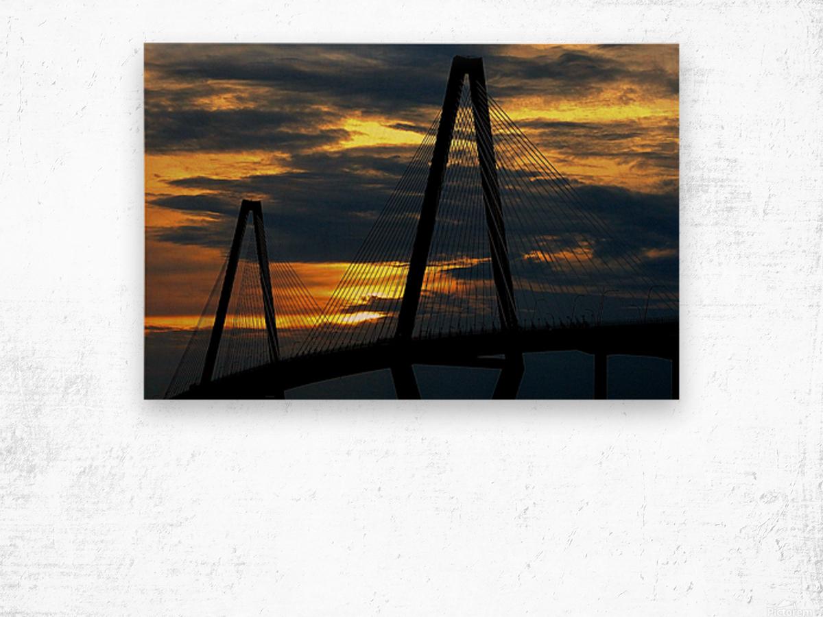 Ravanel Sunset Wood print