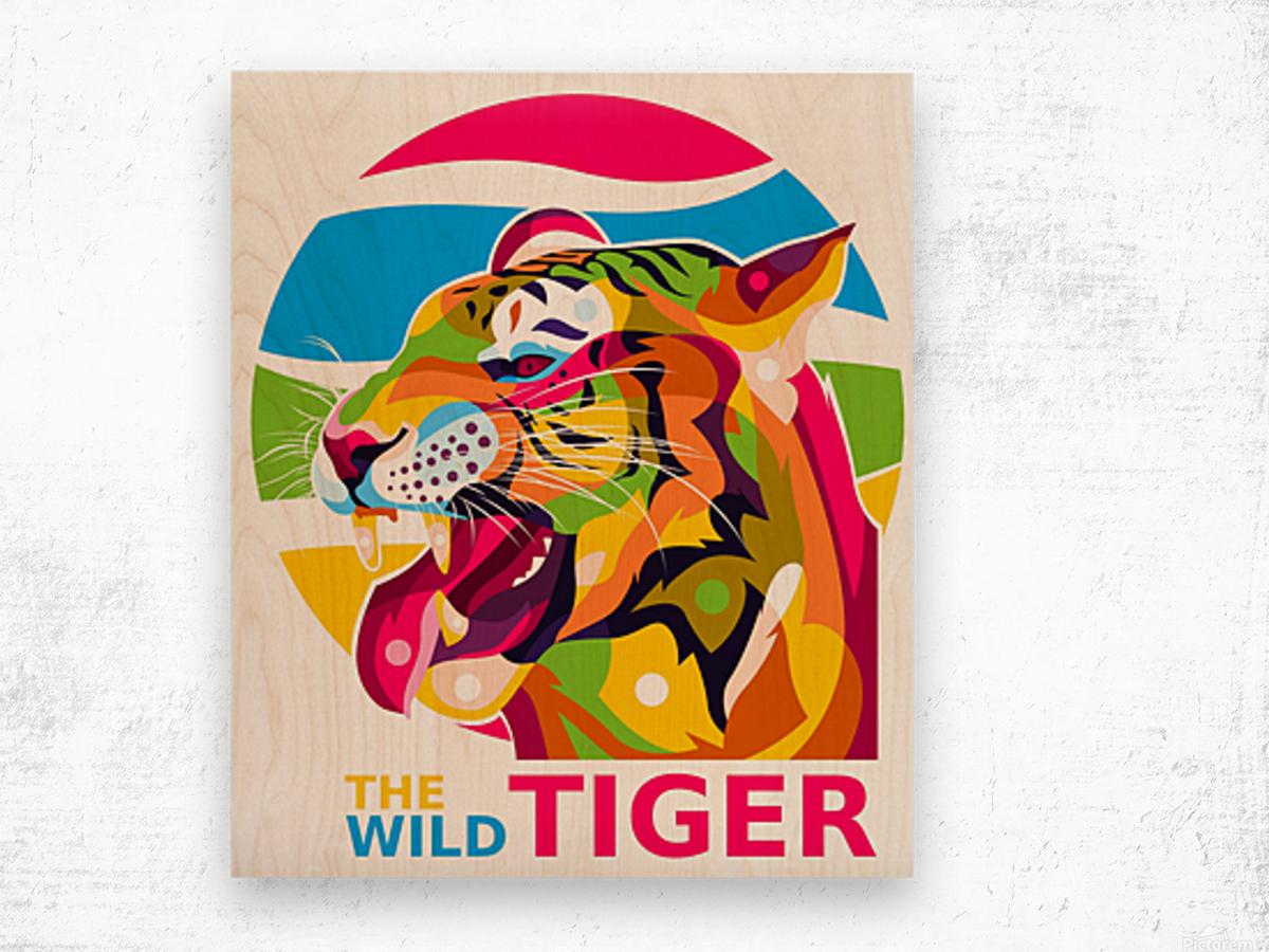 The Wild Tiger Wood print