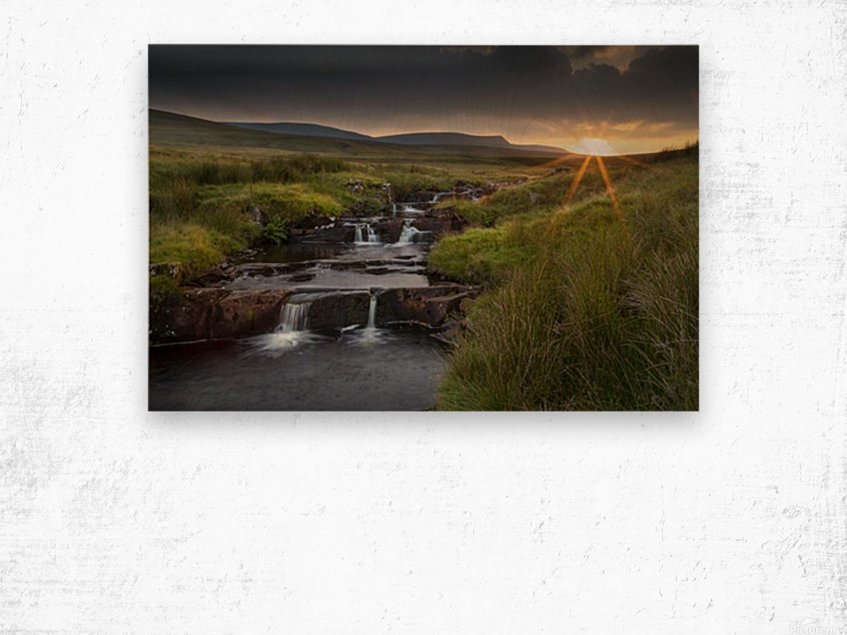 River Tawe sunset Wood print